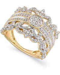 Macy's   Diamond Vintage Crown Ring In 14k Gold (3/4 Ct. T.w.)   Lyst