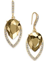 INC International Concepts - I.n.c. Gold-tone Stone & Pavé Drop Earrings, Created For Macy's - Lyst