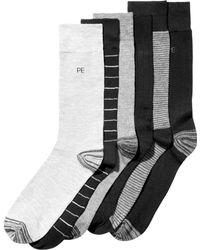 Perry Ellis - 6-pk. Striped Dress Socks - Lyst