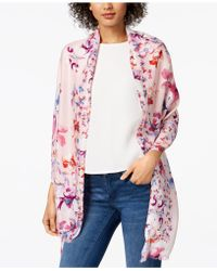 INC International Concepts   I.n.c. Butterfly Garden Wrap & Scarf In One, Created For Macy's   Lyst