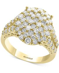 Effy Collection - Diamond Cluster Statement Ring (2-1/10 Ct. T.w.) In 14k Gold - Lyst