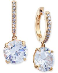 Kate Spade | 14k Gold-plated Crystal And Pavé Drop Earrings | Lyst