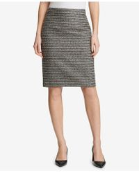 DKNY - Tweed Pencil Skirt, Created For Macy's - Lyst
