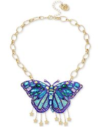 Betsey Johnson - Butterfly Pendant Necklace - Lyst