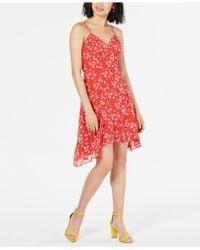 19 Cooper - Floral-print Asymmetrical Dress - Lyst