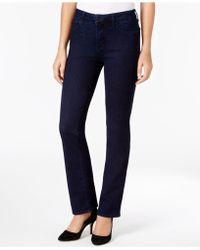 NYDJ - Marilyn Tummy-control Straight-leg Jeans - Lyst