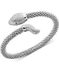 Macy's - Diamond Snake Bracelet In Sterling Silver (1/4 Ct. T.w.) - Lyst