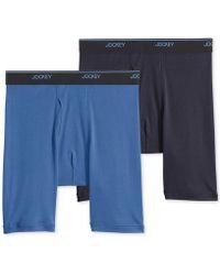Jockey - Big Man 2 Pack Staycool+ Cotton Midway Boxer Briefs - Lyst