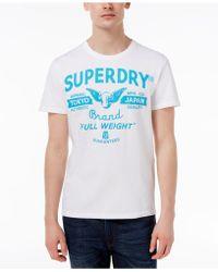 8c9feb81e Superdry | Men's Full Weight Graphic-print Logo Cotton T-shirt | Lyst