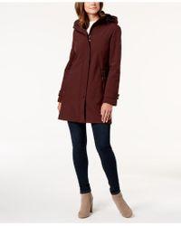 Calvin Klein - Petite Hooded A-line Coat - Lyst
