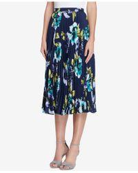Tahari - Pleated Floral-print Midi Skirt, Regular & Petite - Lyst