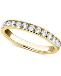 Macy's | Diamond Band Ring In 14k White Gold (1/2 Ct. T.w.) | Lyst