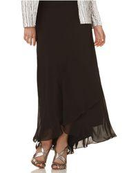 Alex Evenings | Skirt, Long Ruffled | Lyst