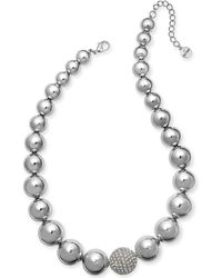"""Alfani - Silver-tone Crystal Accent Bubble Statement Necklace, 17"""" + 2"""" Extender, Created For Macy's - Lyst"""