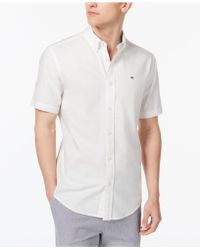 55c75fe8ccb0 Tommy Hilfiger - Maxwell Short-sleeve Button-down Classic Fit Shirt