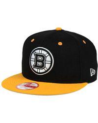 60281c297 KTZ - Boston Bruins Black White Team Color 9fifty Snapback Cap - Lyst