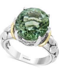 Effy Collection Effy® Green Quartz Statement Ring (7-3/4 Ct. T.w.) In Sterling Silver & 18k Gold
