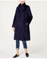 Eileen Fisher - High-collar Coat - Lyst