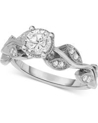 Macy's | Diamond Vine-inspired Engagement Ring (5/8 Ct. T.w.) In 14k White Gold | Lyst