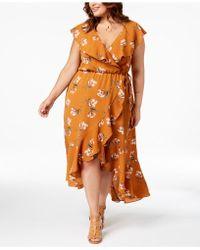 97fbc89ee26 Soprano - Trendy Plus Size Ruffled Wrap Dress - Lyst