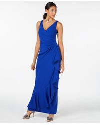 0c1bf574f8df Vince Camuto Velvet Cutout-back Gown in Green - Lyst
