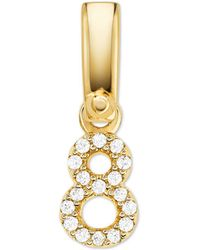 Michael Kors 14k Gold-plated Sterling Silver Pave Number 8 Charm - Metallic