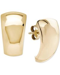 Macy's - Polished Curved Dome Drop Earrings In 14k Gold - Lyst