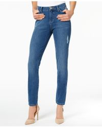 Lee Platinum - Ripped Skinny Jeans - Lyst