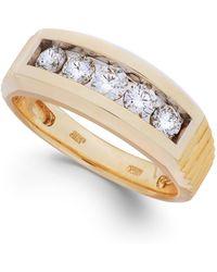 Macy's - Men's Diamond Five-stone Ring In 10k Gold (1 Ct. T.w.) - Lyst