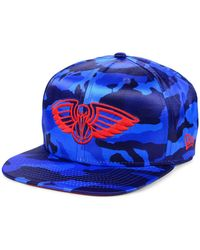 size 40 f8dd5 27bf1 Mitchell   Ness New Orleans Pelicans Cropped Satin Snapback Cap for Men -  Lyst