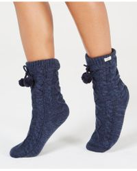 UGG - UGG Pom Pom Fleece Slipper Socks - Lyst