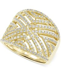 Effy Collection - D'oro By Effy Diamond Geometric Ring (3/4 Ct. T.w.) In 14k Gold - Lyst