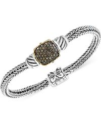 Effy Collection - Diamond Cluster Two-tone Bracelet (5/8 Ct. T.w.) In Sterling Silver And 18k Gold - Lyst