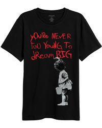 ELEVEN PARIS - Banksy Dream Big Graphic T-shirt - Lyst