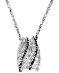 Effy Collection - Effy® Diamond Pendant Necklace (3/8 Ct T.w.) In Sterling Silver - Lyst