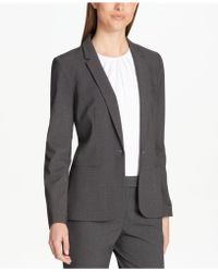 083c68037ca Lyst - Women s Calvin Klein Blazers and suit jackets On Sale