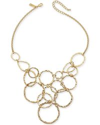 """INC International Concepts - I.n.c. Gold-tone Hammered & Linked Circle Statement Necklace, 18"""" + 3"""" Extender, Created For Macy's - Lyst"""