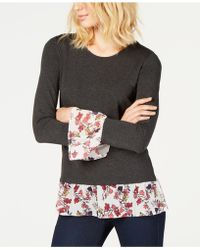 Vince Camuto - Layered-look Top, Created For Macy's - Lyst