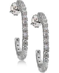 Giani Bernini - Cubic Zirconia J-hoop Earrings In Sterling Silver - Lyst