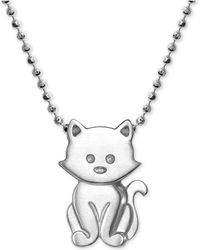 "Alex Woo - Kitten 16"" Pendant Necklace In Sterling Silver - Lyst"