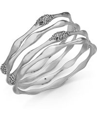 INC International Concepts - I.n.c. 3-pc. Set Crystal Wavy Bangle Bracelets, Created For Macy's - Lyst