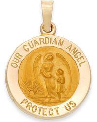 Macy's - Guardian Angel Pendant In 14k Gold - Lyst