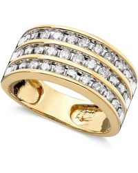 Macy's - Three-row Diamond Ring (1 Ct. T.w.) In 14k Gold Or White Gold - Lyst