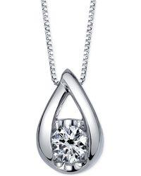 Sirena - Diamond Pendant Necklace (1/2 Ct. T.w.) In 14k White Gold - Lyst