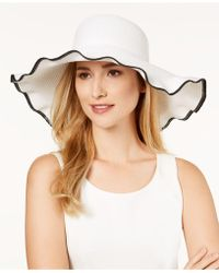Nine West - Packable Ruffle-brim Floppy Sun Hat - Lyst