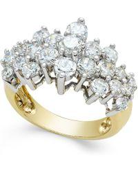 Macy's - Diamond Pyramid Ring (2-1/2 Ct. T.w.) In 14k Gold - Lyst