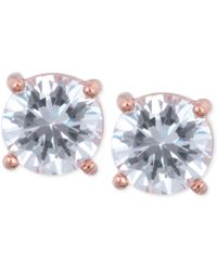 Anne Klein - Gold-tone Crystal Stud Earrings - Lyst