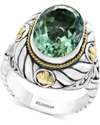 Effy Collection - Balissima By Effy® Green Amethyst Statement Ring (5-9/10 Ct. T.w.) In Sterling Silver & 18k Gold - Lyst