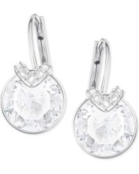Swarovski | Clear & Colored Crystal Drop Earrings | Lyst