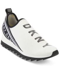 DKNY - Abbi Slip On Low Top Sneakers - Lyst